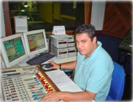 Osmar Guerreiro - Estudio da Rádio Globo/SP