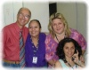 com Gelcio, Karla de Lucas e Sheila Trindade